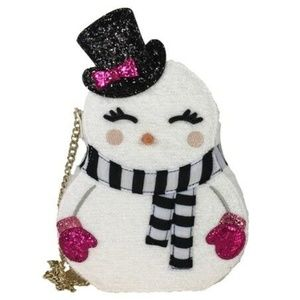 Betsey Johnson SNOWMAN CROSSBODY